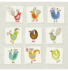 Character birds vector