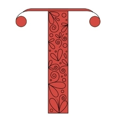 Decorative letter shape Font type T vector image vector image