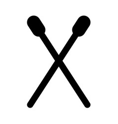 drum stick isolated icon vector image