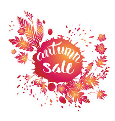 Fall leaves sale vector