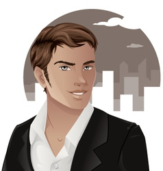 Handsome man wearing a suit vector