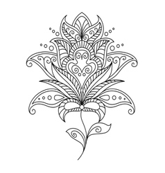 Intricate dainty floral motif design element vector