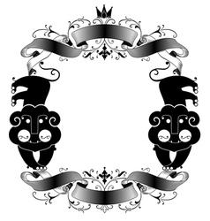 lion frame vector image vector image