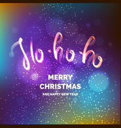 Merry christmas bright poster with an inscription vector