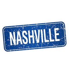 Nashville blue stamp isolated on white background vector