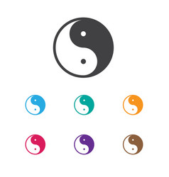 Of faith symbol on ying yang vector