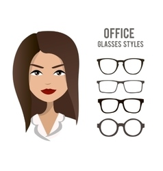 Office glasses styles template with an vector image vector image
