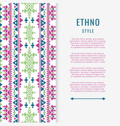 Peruvian aztec or boho style mexican texure banner vector