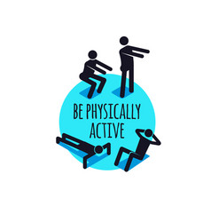 physically active icons sporty people sign set vector image vector image