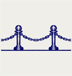 Seamless fence vector