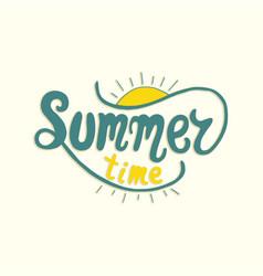 summer time unique lettering poster art vector image
