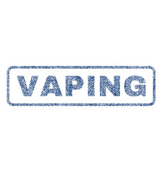 Vaping textile stamp vector