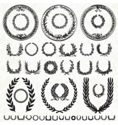 Victory wreath collection vector