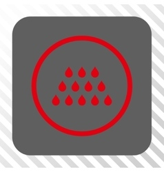 Drops rounded square button vector