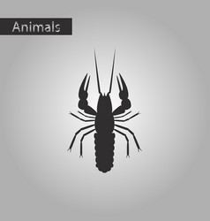 Black and white style icon of lobster vector