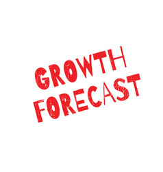 growth forecast rubber stamp vector image