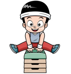 Boy jumping vector