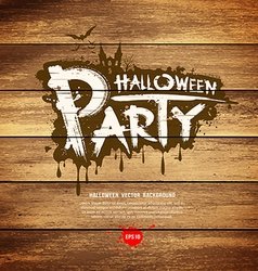 Halloween party message design vector