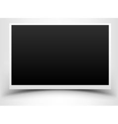 Blank photo on white background vector