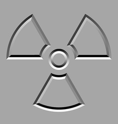 Stone carved radiation symbol vector
