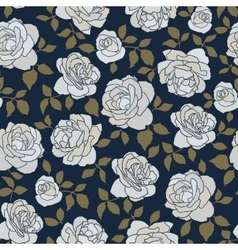 Seamless pattern made of hand drawn light roses on vector
