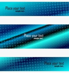 banner set vector image