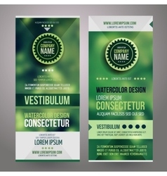 Corporate identity templates design vector