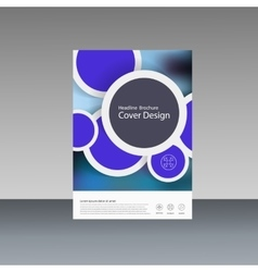 Circle annual report brochure flyer vector
