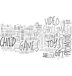 Are toys video games the right christmas gifts vector