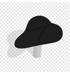 Black bicycle seat isometric icon vector