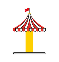 carousel tent isolated icon vector image vector image
