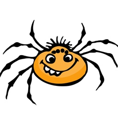 Cartoon spider vector image
