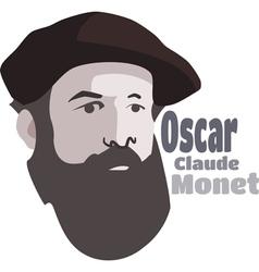 Claude Monet vector image