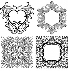 elegant design elements vector image