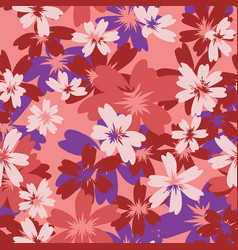 Flowers spring summer color seamless pattern vector