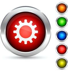 Gear button vector
