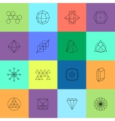 Geometric icons for Hipster logotypes vector image