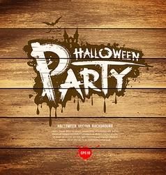 Halloween party message design vector image vector image