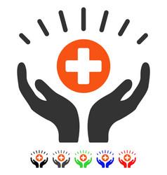 Medical prosperity flat icon vector
