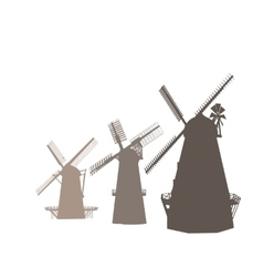 Mills Isolated On White vector image vector image