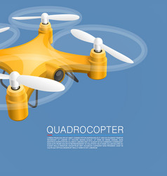 Quadrocopter unmanned camera vector