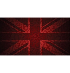 Red uk number flag vector