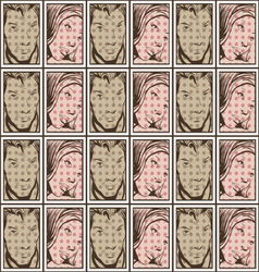 Retro people background vector image vector image