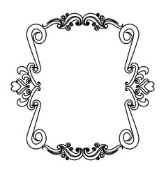 Romantic decorative frame floral border cute image vector