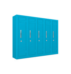 school lockers light blue 5 piece section vector image