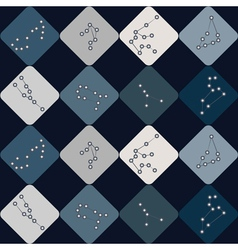 Seamless background with different constellations vector