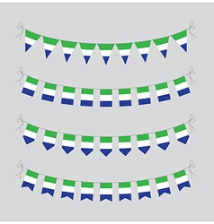 sierra leone bunting vector image vector image