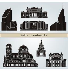 Sofia landmarks and monuments vector