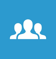 Team icon white on the blue background vector