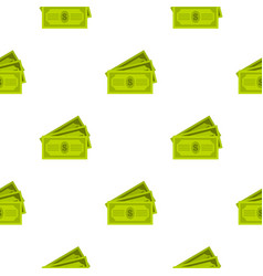 Three dollar bills pattern flat vector